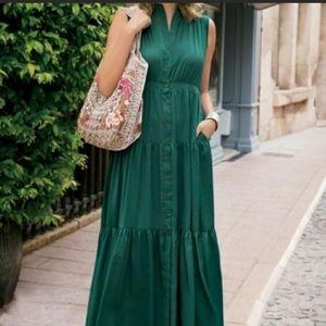 Soft Surroundings Trieste Button Front Maxi Dress